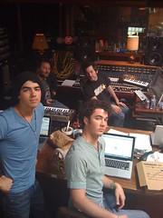 Finishing the album (monicaerfe [alexnoyesonline.com]) Tags: studio kevin brothers nick joe jonas recording