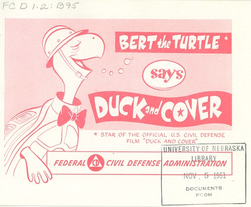 Bert the Trutle Says Duck and Cover, cover page