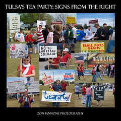 Tulsa's Tea Party (Don Iannone) Tags: oklahoma flickr protest photojournalism demonstration taxes tulsa photocollage teaparty christianright taxday politicalsigns usconstitution photoseries warrenplace conservativepolitics doniannone politicalphotography doniannonephotography tulsateaparty taxday2009 economicbailouts arpil152009 americaspoliticalright
