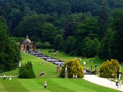 The Cascades at Chatsworth, Derbyshire, as seen from the First Floor of the House (UGArdener) Tags: england english outdoors unitedkingdom britain derbyshire summertime cascade chatsworth englishgardens englishtravel
