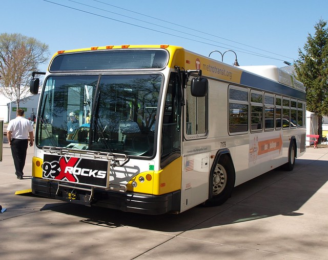 Metro Transit New Hybrid Bus at Living Green Expo 2009 2