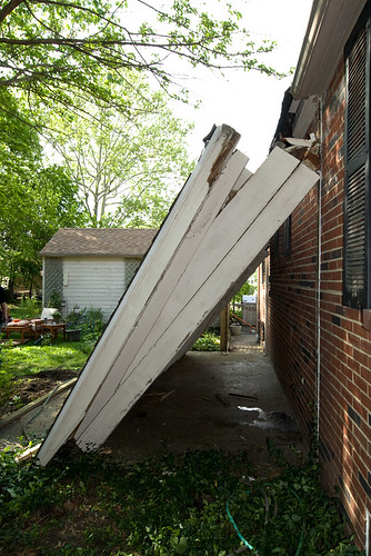 Side View of a Downed Porch