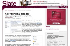 Kill your RSS reader, and use my amazing system for browsing the Web. - By Farhad Manjoo - Slate Magazine_1241956690021