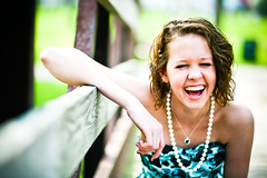 Carry laughter with you wherever you go... ( {felicia.renee} ) Tags: blue spring laugh karly