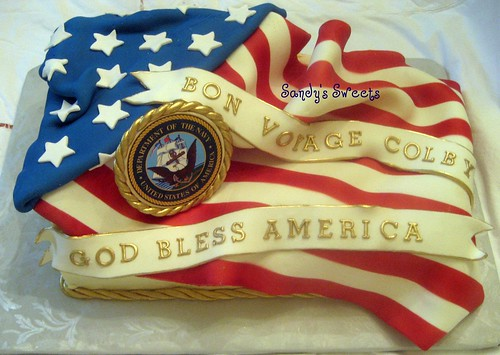 Flag Cake by Sandy's Sweets
