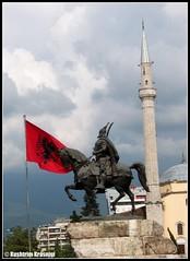 Paradox (Kushtrim Krasniqi) Tags: proud contrast flag national hero kosova kosovo albanian albania tirana moque skenderbeg shqiperia skenderbeu kosovar xhami gjergjkastrioti krenar flamur shqipetare kombetar kushtrimkrasniqi