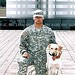 Cpl. Kory D. Wiens, 20, of the 94th Mine Dog Detachment, 5th Engineer Battalion, 1st Engineer Brigade of Fort Leonard Wood, Mo., and his partner, Cooper