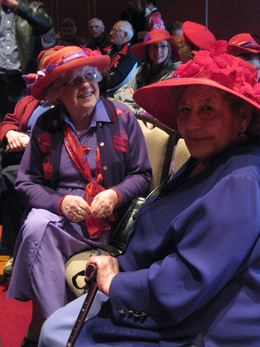 Members of the Yorkton Red Hat Society at Opening Night