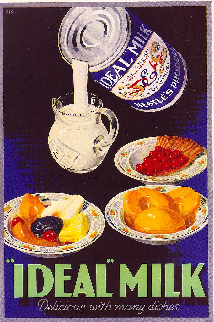 Ideal Milk advert, 1935