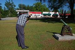 Ken shooting a cannon