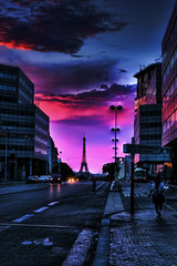 65 Shades of Purple (Joseph Timms) Tags: sunset paris lumix panasonic hdr parisian lx3