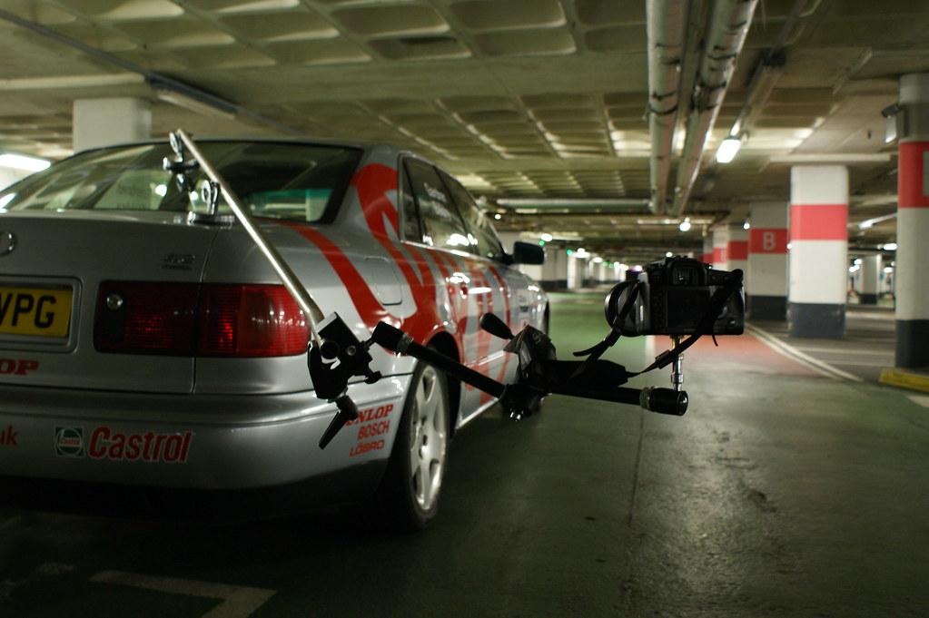 Audi A8 trackday car Rig shot