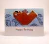 Origami Sea Otter Birthday Card