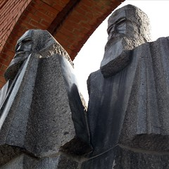 Statues of Marx and Engels