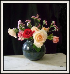 bouquet (bchira1) Tags: flower garden vase bouquet marble