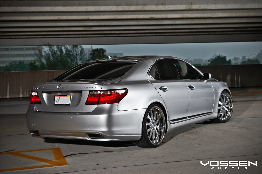 Wow Silver Ls460 Lowered On Two Sets Of Vossen S Great