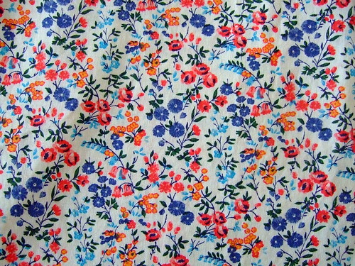 flowered vintage fabric