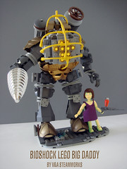 Bioshock LEGO Big Daddy by V&A Steamworks (V&A Steamworks) Tags: guy daddy big lego little sister xbox va steamworks rapture steampunk bioshock himber