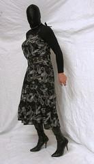 9127 (blackknot100) Tags: black tv mask boots cd crossdressing heels masked collar crossdresser leatherbelt