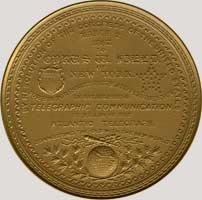 Cyrus Field medal reverse