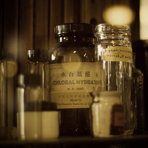 Old pharmacy bottles