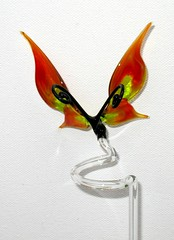 Glass figurine Butterfly - orchid rod (Glasmagie) Tags: sculpture orchid flower glass animal butterfly garden suncatcher orchidee lampwork homedecor hotglass glaskunst glassfigurine glasblaeserei glassanimal glasfiguren glastiere orchideenstab rankstab orchidrod