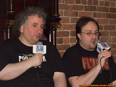 Launch party for the book The Mythological Dimensions of Doctor Who and Doctor Who Podshock: Live! on May 20, 2010 at the Fiddlesticks Pub in New York's West Village.