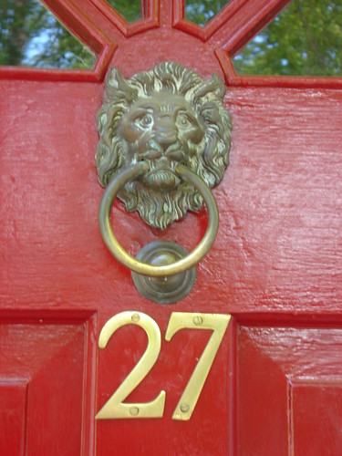 Red Door with Knocker #27