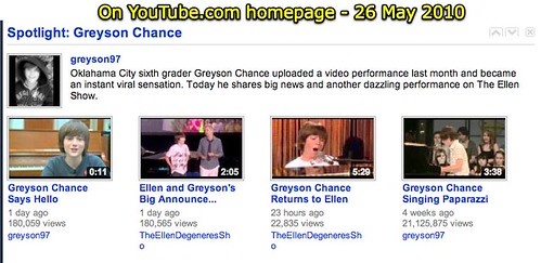YouTube - Spotlight on Greyson Chance