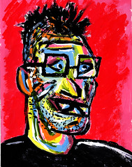 Portrait of Wayne Beauchamp in Acrylics by Matt Beauchamp (2010) (MattBeauchamp) Tags: matt beauchamp