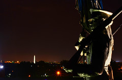Air Force Memorial Statues, Overlooking Washington Monument [EXPLORE] (WilliamMarlow) Tags: night 35mm washingtondc dc washington nikon memorial military uscapitol cc capitol creativecommons airforce washingtonmonument pentagon usairforce airforcememorial dcnight unitedstatesairforcememorial usairforcememorial nationalairforcememorial d7000 unitedstatesairforcememorialarlington