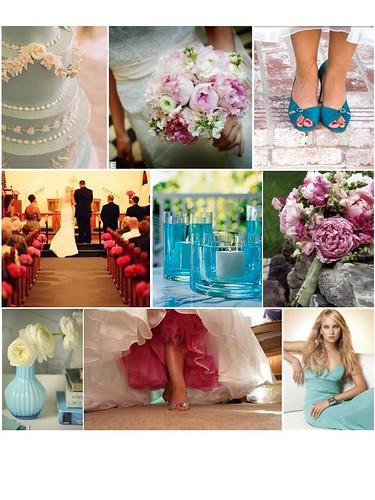 Aqua Fuschia Wedding Inspiration Board Angela and Mike 39s Wedding