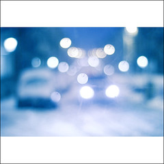 Slow Down (Sachie Nagasawa - somewhair) Tags: road winter light snow car nikon bokeh lumire hiver voiture route fourseasons neige sachie aphotoaday nagasawa 40fav d80 365project somewhair hantenshi lifypoem