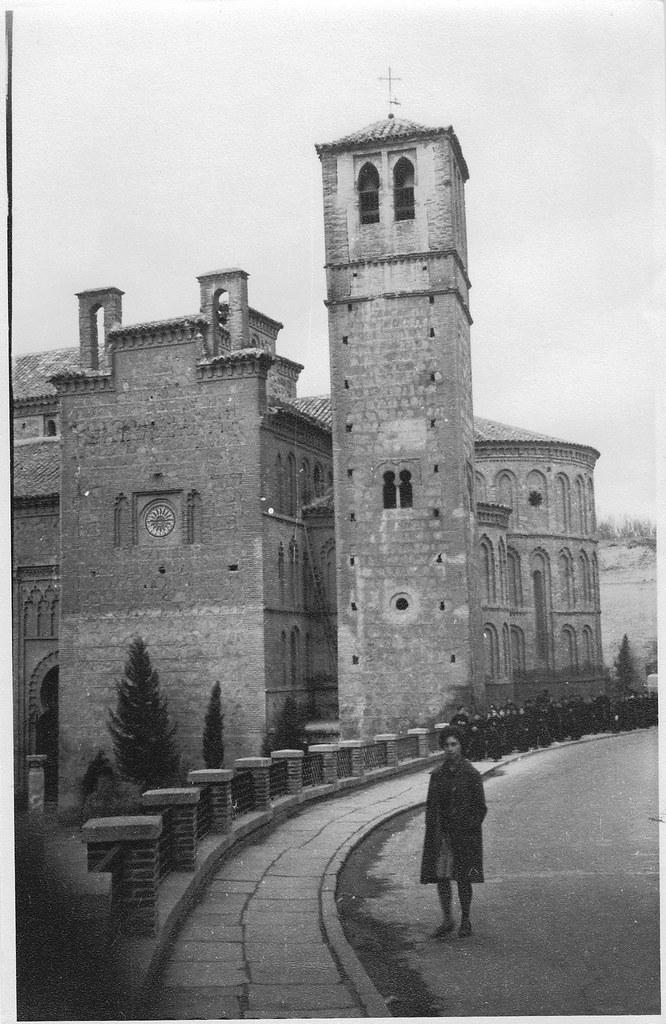 Iglesia de Santiago de El Arrabal (Toledo) en diciembre de 1961. Fotografía de Eduardo Butragueño Bueno