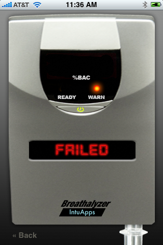 Breathalzer iPhone App