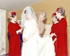 Me as a Bride, 1969, My Mom & 3 Bridesmaids (Pixel Packing Mama) Tags: 1969 beautiful bride lovely1 bridesmaid sixties reddress v300 whitedress pws oldfamilyphotosset pixelpackingmama meset dorothydelinaporter worldsfavorite reallyunlimited redclothespool thepiedmontcaliforniayearsset overquartermilliionphotostreamviews uploadedfirsthalfof2009set original1960sphotos pixelpackingmamasweddingin1969 weddingsetprivateuntilifixthemupset redbridesmaidsdresses favupset update4sure cbatdefdefdef photosfromthe1960spool favoritedpixvoliii~2ndhalfof2009set favup111709 moved123109fromfavupsettofavoritedpixvoliii~2ndhalfof2009set update4sureset pixelpackingmama~prayforkyronhorman oversixmillionaggregateviews over430000photostreamviews