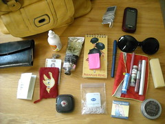What's In My Bag (fooferkitten) Tags: bag ipod wallet things purse stuff whatsinyourbag contents glyde johnmastersorganics