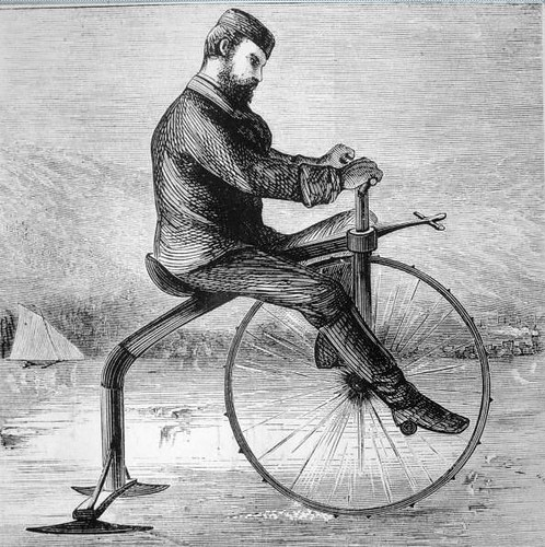 Ice Velocipede, 1869