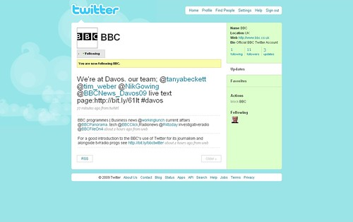 BBC take control of Twitter account