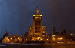 Warsaw Palace of Culture and Science (liber) Tags: monument delete10 night delete9 delete5 delete2 cloudy delete6 delete7 gothic culture save3 delete8 delete3 palace delete delete4 save save2 warsaw stalinist gigapan dopplr:explore=1z41
