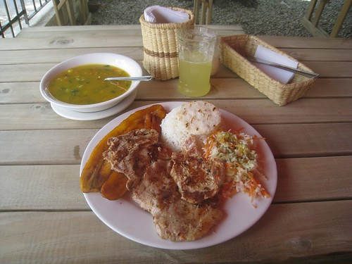 Typical Colombian chicken lunch!