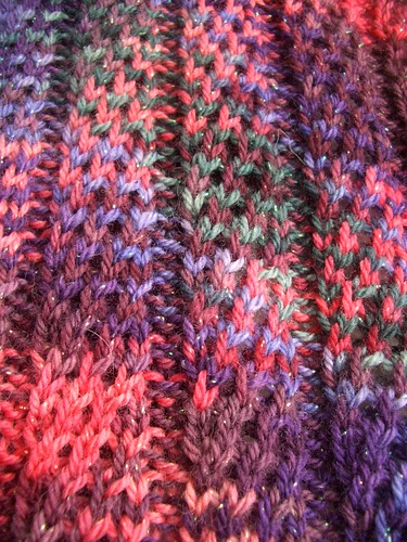 Li's scarf close up