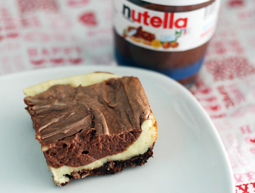 nutella cheesecake squares