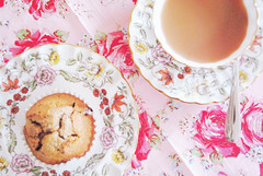 {tea and muffins} ({Jessica Louise}) Tags: pink flowers floral baking pretty tea cottage muffin cath afternoontea cupoftea kidston