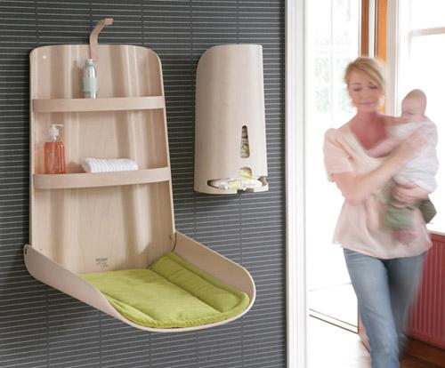 Muebles cambiadores para bebés