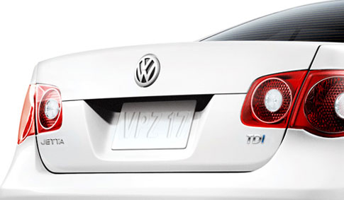 Rear view of VW Jetta TDI