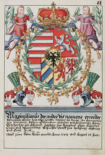 013- Escudo de armas del emperdor Maximilliam II 1576-saa-V4-1985_068r