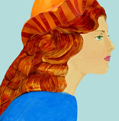 portrait-red-hair-aqua-and-hat