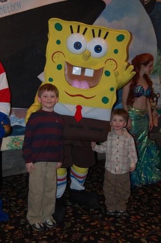 noah & jake with spongebob