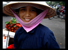 happy (ladyinpink) Tags: street portrait people woman color colour vietnam rambutan hochiminh fruitseller